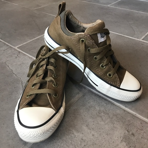 2c332b786db4 Converse Shoes - Converse army brown green all star tennis shoes 6